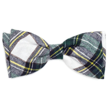 Stewart Tartan Green Pet Dog Bow Tie