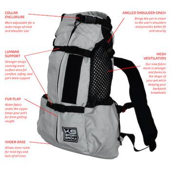 K9 Sport Sack AIR 2--Light Grey- Pets Up to 35 lbs