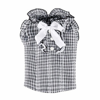 Puppy Angel Lovely Check Dog Blouse - Black