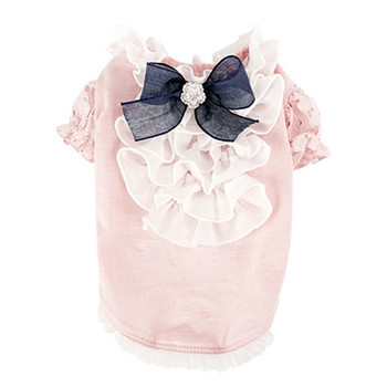 Puppy Angel Petite Frill Dog Blouse - Pink