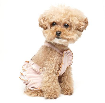 Puppy Angel Frill Ribbon Dog Pants - Pink