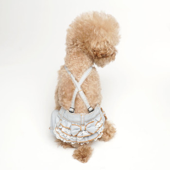 Puppy Angel Frill Ribbon Dog Pants - Blue