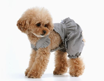 Puppy Angel Carina Volume Dog Pant Overall - Gray