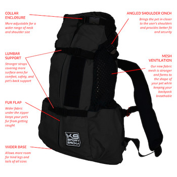 K9 Sport Sack AIR 2--Black- Pets Up to 40 lbs