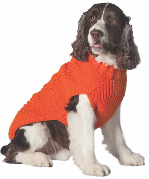 Orange Cable Knit Dog Sweaters