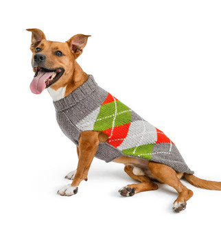 Trendy Boy Argyle Hand Knit Dog Sweaters