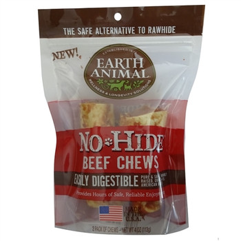 Earth Animal No Hide Beef Chews Dog Treats, 10 Pack