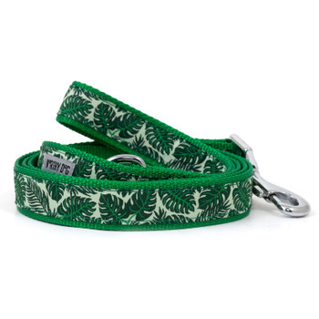Tropical Leaves Pet Dog Collar & Optional Lead