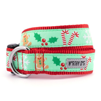 Gingerbread Pet Dog Collar & Lead