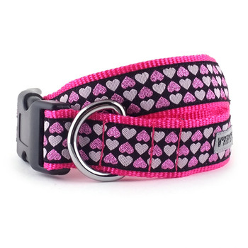 Hearts Pet Dog Collar & Optional Lead