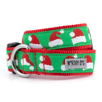 Santa Hats Pet Dog Collar & Lead