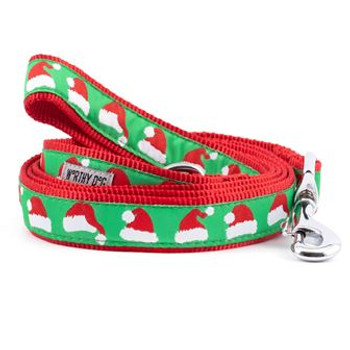 Santa Hats Pet Dog Collar & Optional Lead