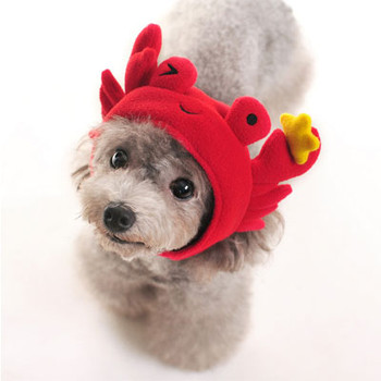 Red Crab Pet Dog Hat