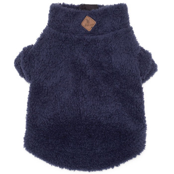 Navy Solid Fleece Zip Dog Pullover