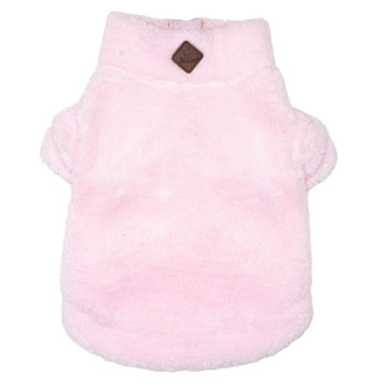 Wubby Fleece 1/4 Zip Pullover Dog Sweater - Pink