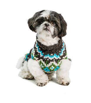Charcoal Fairisle Hand Knit Dog Sweaters