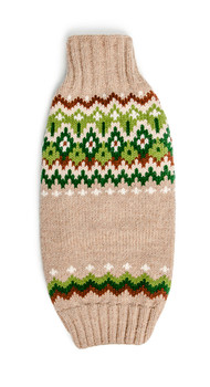 Ragg Wool Fairisle Hand Knit Dog Sweaters