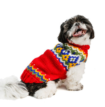 Holiday Fairisle Wool Hand Knit Dog Sweaters
