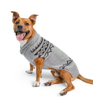Alpaca Pewter Wyatt Hand Knit Dog Sweaters
