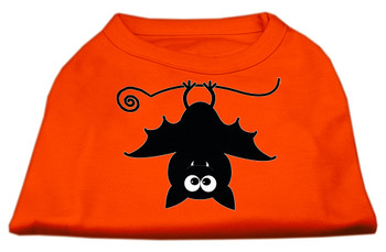 Batsy the Bat Screen Print Dog Shirt - Orange