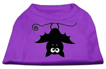 Batsy the Bat Screen Print Dog Shirt - Purple
