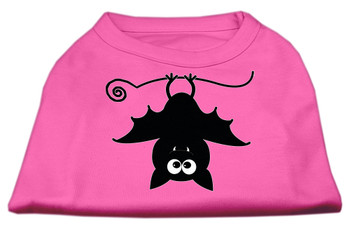 Batsy the Bat Screen Print Dog Shirt - Bright Pink
