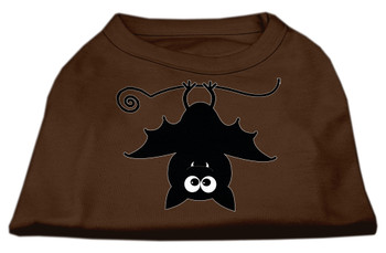 Batsy the Bat Screen Print Dog Shirt - Brown