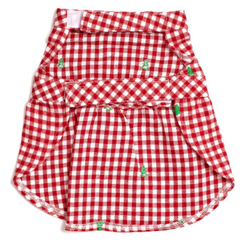 Christmas Check Trees Pet Dog Dress - Small - Big Dog