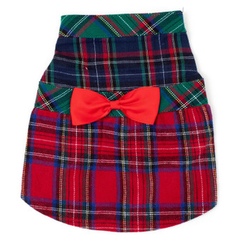 Colorblock Tartan Pet Dog Dress - Small - Big Dog