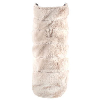 Beige Fur Dog Coat