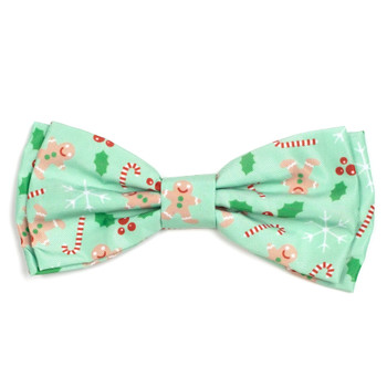 Gingerbread Pet Dog Bow Tie