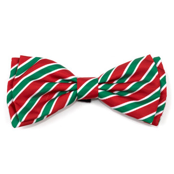 Holiday Stripe Dog Bow Tie