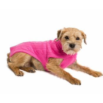 Cashmere Dog Sweater - Hot Pink