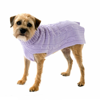 Cashmere Dog Sweater - Lavender, Oatmeal, Brilliant Blue
