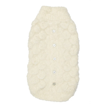 Mohair Blossom Dog Sweater - Cream