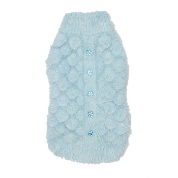 Mohair Blossom Dog Sweater - Blue