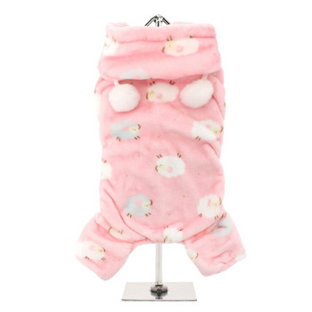 Baby Pink Counting Sheep Onesie Dog Pajamas