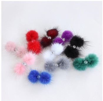 Pom Pom Furry Dog Barrettes by Hello Doggie