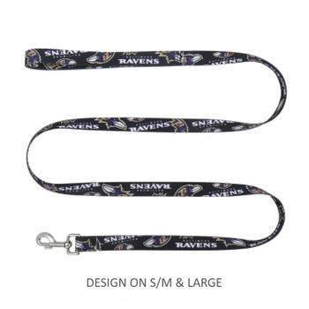 Baltimore Ravens Pet Nylon Leash - S/M