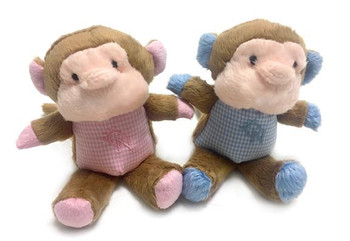 Monkey Safari Baby Pipsqueak Puppy Dog Toy