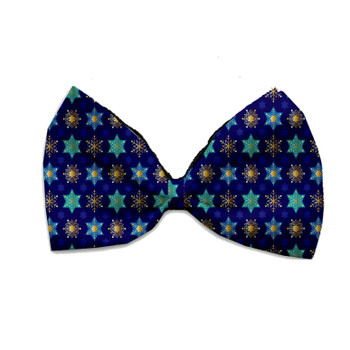 Star Of David And Snowflakes Pet Bow Tie