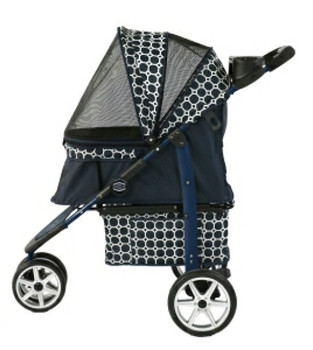 Monaco Dress Blues Pet Dog Stroller - For pets up to 25 lbs