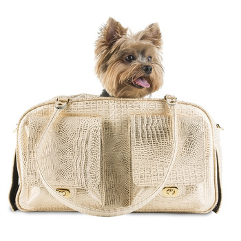 Marlee Pet Dog Carrier - Gold Croc by Petote