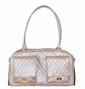 Marlee Pet Dog Carrier - Petal Pink Quilted by Petote