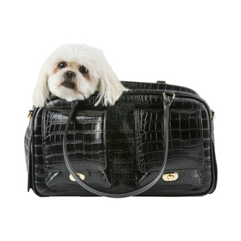 Marlee Pet Dog Carrier - Black Croco by Petote