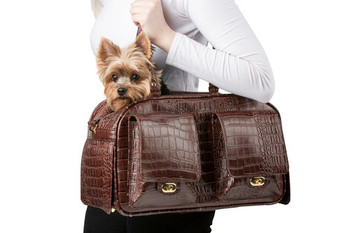 Marlee Pet Dog Carrier - Brown Croco by Petote