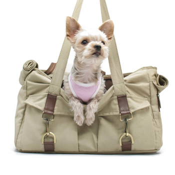 Pet Dog Buckle Tote BB - Beige