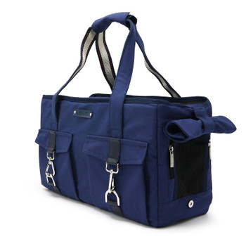 Pet Dog Buckle Tote BB - Navy Blue