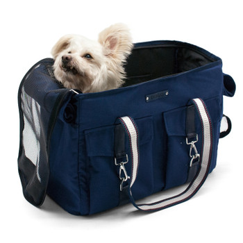 Pet Dog Buckle Tote V2 - Navy Blue