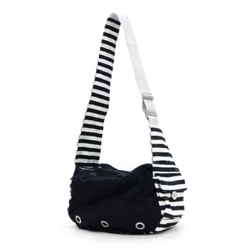 Pet Dog Soft Sling Bag - Black